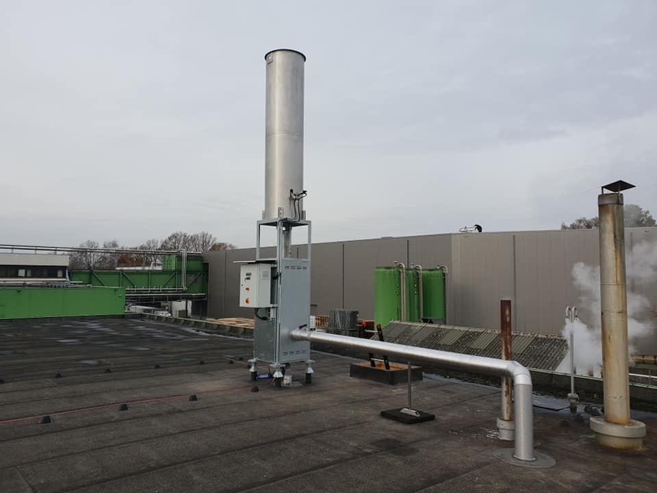 Biogasfakkel Johma Salades
